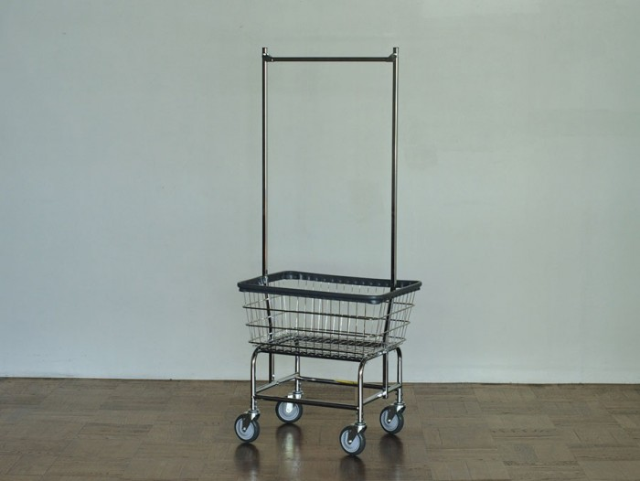 LAUNDRY CART DOUBLE POLE W675 D550 H1690mm (Basket)W675 D550 H280mm ¥28,000 P.F.S. PARTS CENTER