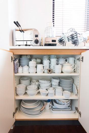 食器は和食器を除いて、白で統一。
