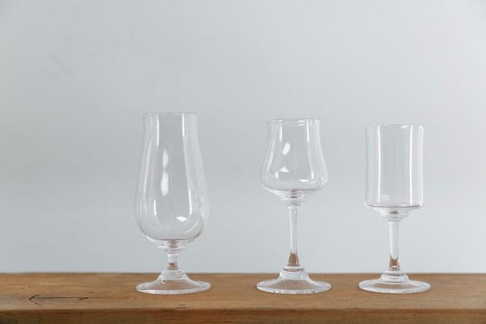 グラス 左から¥15,000 ¥12,000 ¥12,000 以上Takeshi Tsujino