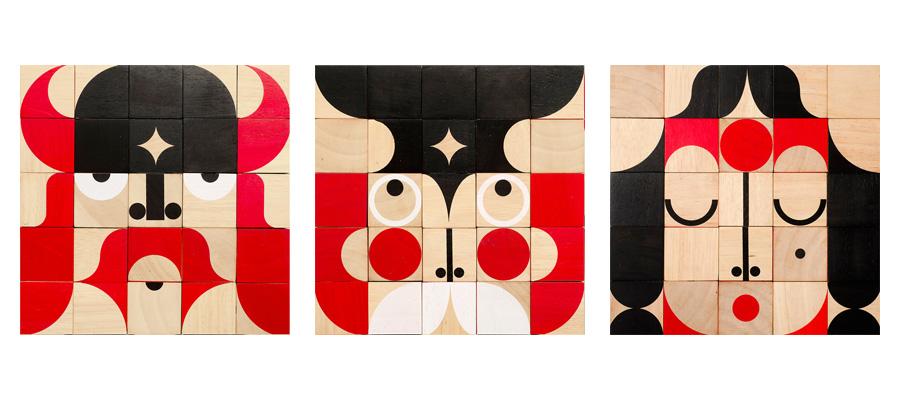アート・トイ −1−クリエイティブな感覚で遊べて 彫刻のように美しい木製玩具