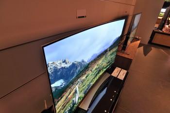 カーブドテレビ LG Electronics。