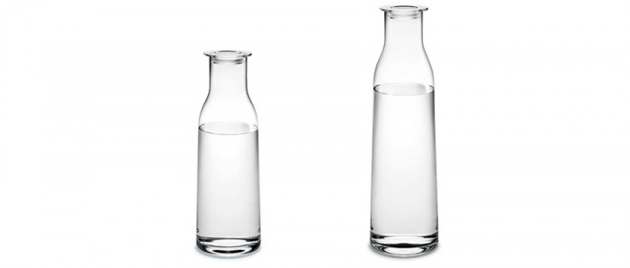 MINIMA蓋付きボトル 900ml  φ90 H265mm ¥4,400 1400ml  φ90 H325mm ¥5,800 ともにホルムガード/LIVING MOTIF
