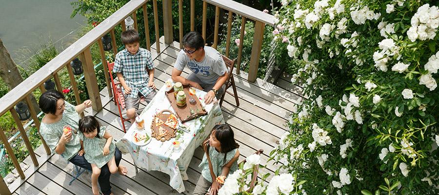 リバーサイドを満喫  庭も、住まいも、自分たちで手づくりを楽しむ暮らし