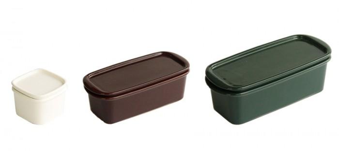 ハーベストキャニスター(ホワイト・ブラウン・グリーン)SS W80 D80 H60mm ¥1,200 S W180 D80 H60mm ¥2,000 M W215 D96 H70mm ¥3,000 以上ceramic japan/niguramu