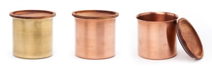 Ayasa Storage Containers(BRASS・COPPER )φ96 H90 各¥11,000 Tiipoi/CIBONE Aoyama