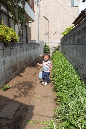 保育園に通う息子は庭で遊ぶのが大好き。
