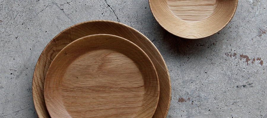 木の器 −1− 木目が生み出す 美しいカタチのウッドプレート
