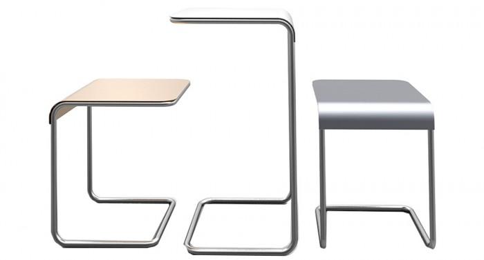 FARALLON SIDE TABLE(ブロンズ・ホワイト・グレー) 大 W400 D400 H700mm ¥67,000 小 W400 D350 H400mm ¥60,000 以上DANESE/クワノトレーディング