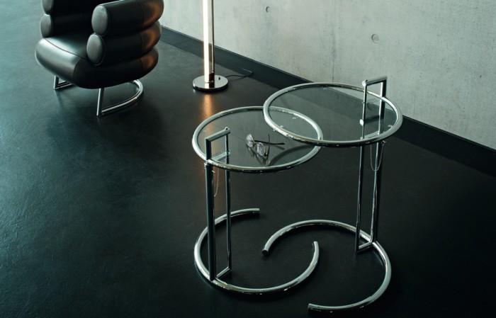 アジャスタブルテーブル E 1027 φ510 H630〜1040mm ¥138,000 ClassiCon/hhstyle.com 青山本店