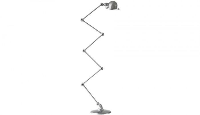 JIELDE FLOOR LAMP BRUSH STEEL JD9406 アーム400mm×6本 ヘッドφ160 H115mm ベースφ333mm ¥130,000 JIELDE/ザ・コンランショップ