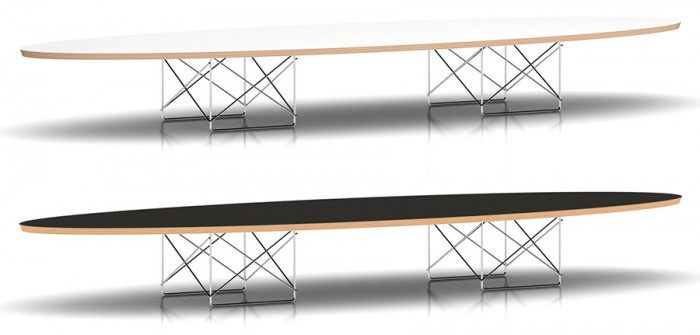 Eames Elliptical Table(スタジオホワイト・ブラック)W2261 D750 H254mm各¥126,000Herman Miller(Herman Miller Japan)