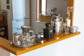 コーヒーにも凝り、豆から挽いて楽しんでいる。豆は葉山のお気に入りのお店で。