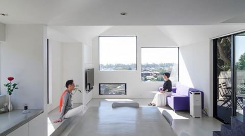 大磯の海と山を満喫する家非日常性を演出するホテルライクなシンプル空間
