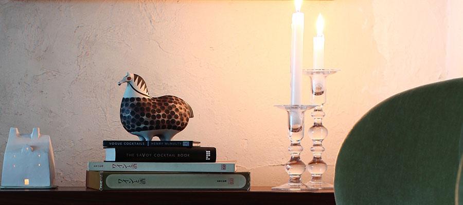 キャンドル −2−クラシカルな雰囲気が漂うガラスのキャンドルスティック