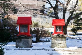 庭にはお社もある。民枝さんのお父様が毎朝お参りし、大切にされているそう。