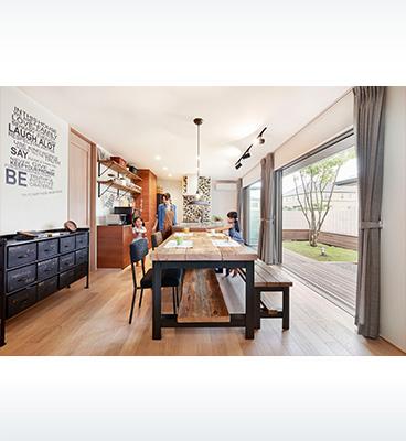 ヘーベルハウスの実例DIYで好みのインテリア家族一緒の時間を楽しむ家