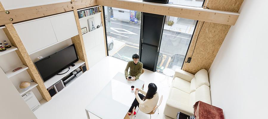 ギャラリーに見立てた空間づくり空間構成と立地環境がもたらす心地良い開放感