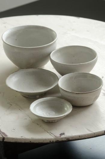 正島克哉さんが364のために作った、オリジナルの入れ子碗。一汁三菜で使える器の5点セット。