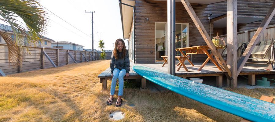 カリフォルニアの風が吹く  愛する海と暮らす サーファーズハウス