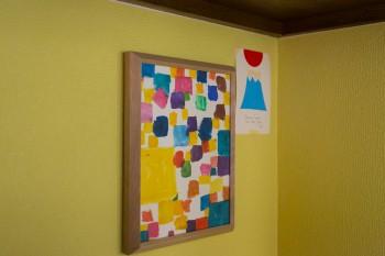 あるワークショップに参加して作成した、息子さんと娘さんの合作。カラフルな色使いにセンスが光る。