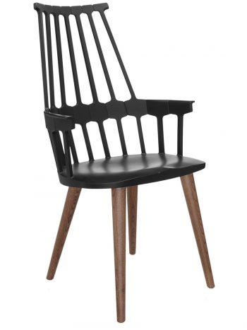 Comback Wood Leg(ブラック+オーク) W580 D500 H1000 SH485mm¥81,300Kartell(ヤマギワオンラインストア)