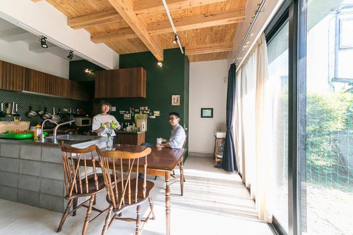 「ブロックで作るキッチンのアイディアは、設計していただいた一條さんのお宅で使われているのを見て、是非真似したい!と(笑)」