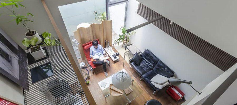 最小寸法と共に実現した心地良さ狭小敷地で追求されたコージーな空間