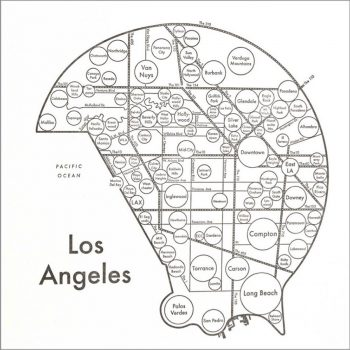 LETTER PRESS PRINT LOS ANGELES W203 H203mm 各¥3,200 Archie's Press(CIRCLE & LINE)