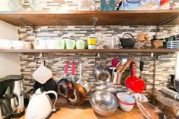 キッチンツールはすべて奥さんがコーディネート。