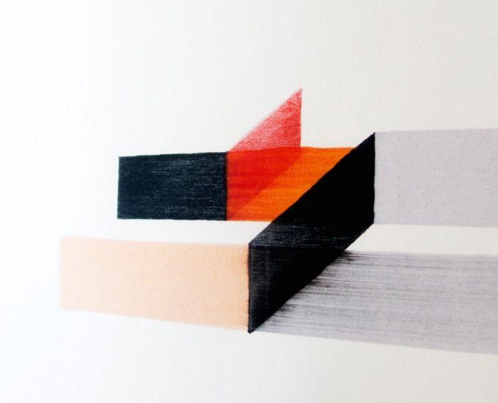 色の重なり、滲み、かすれ、インクの乗りなど、繊細な質感と色合いも魅力。