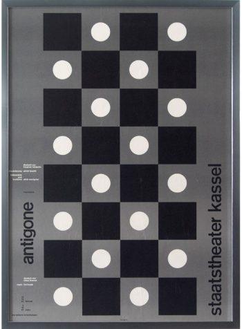 Antigone, Kassel W625 H868mm ¥39,000 Almir Mavignier(ナップフォード・ポスター・マーケット)