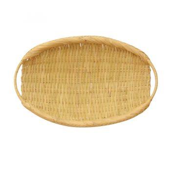 岩手県産の鈴竹を細かく編み込んでつくられたもの。弾力性があり、壊れにくく丈夫。焼きたてのパンやトースト、おにぎりをのせるのにオススメ。焼きたてのパンの食感や海苔の風味を楽しめる。