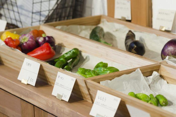 野菜は袋詰めではないので、必要な分だけを買うことができる。おいしくて安全だからこそ、毎日買い続けられる価格で提供する。