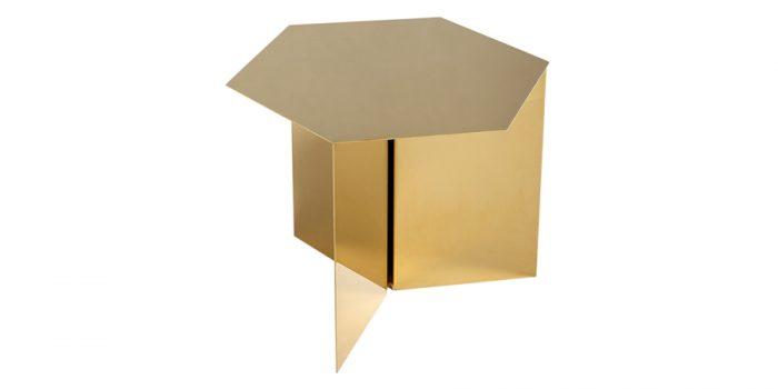 スリット テーブル ヘキサゴン ブラス W458 D458 H355mm ¥73,000 HAY(ザ・コンランショップ)