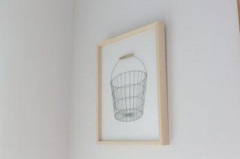 造形作家・古賀充さんの作品。ワイヤーを使った立体的な表現がおもしろい。