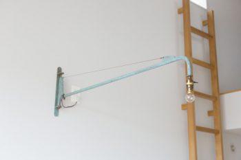 ジャン・プルーヴェのデザインと思われるウォールライト。工場で使われていたもの。