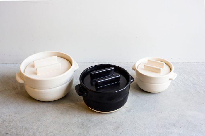 ごはんの鍋 三合 ¥6,800 二合 ¥4,800 一合 ¥2,800 以上かもしか道具店