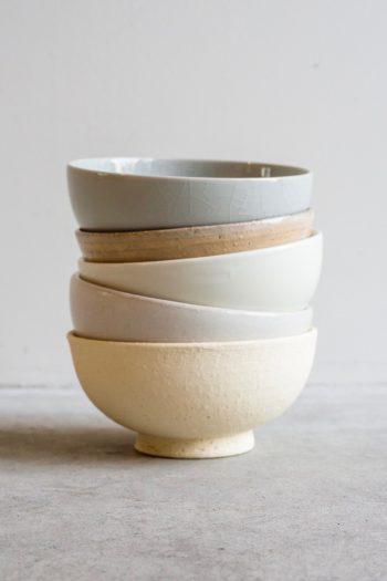 THE 飯茶碗(上から瀬戸・清水・有田・益子・信楽) φ120 H60mm 各¥2,300
