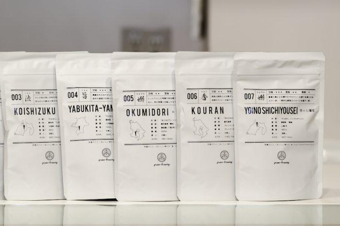 シンプルなパッケージには産地、蒸し具合、火入れ具合などが書かれている。