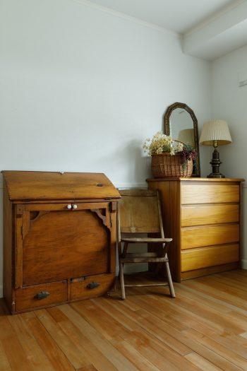 アメリカ中から集められたアンティーク家具が、Kさん一家の暮らしにずっと寄り添っていく。