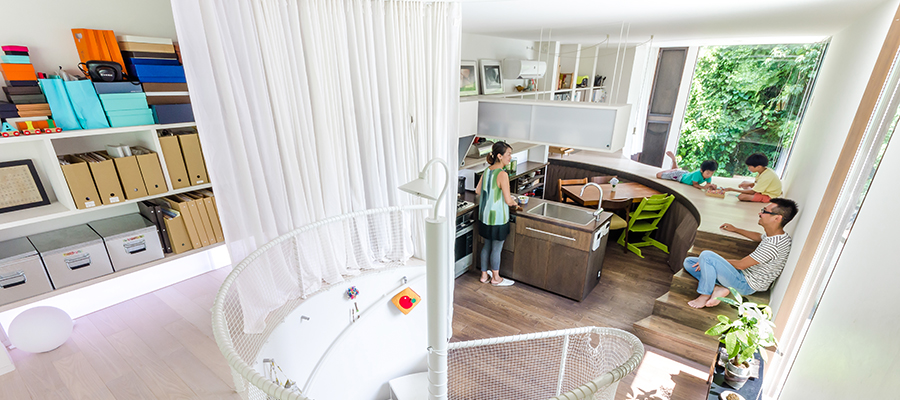 居場所のたくさんある家緑豊かな環境のなかでおおらかに暮らす