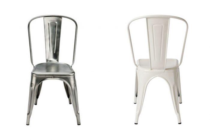 A-Chair W450 D460 H850 SH440mm ロースチール ¥55,000 ホワイト ¥44,000 ともにTOLIX (designshop)