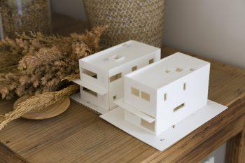 設計士さんとの打ち合わせで使った模型。「小さな家」を思わせる。