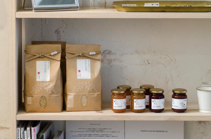 無農薬米やHOMEのジャムなど、体の中に取り入れるものも手作りで作られたものをセレクト。