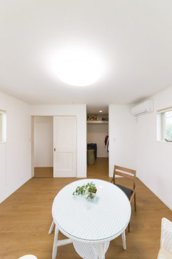 将来の夫婦の主寝室(2階)。奥に大きめのウォークインクローゼットがある。