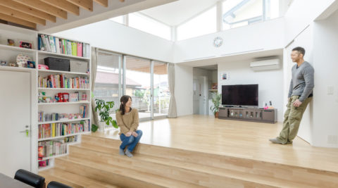 リビング中心の家づくり明るく、開放的、そして家族がつながる快適生活