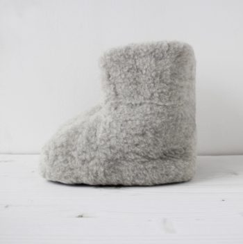 WOOL BOOTIE (L/GRAY) ¥6,000 The Tastemakers & Co.