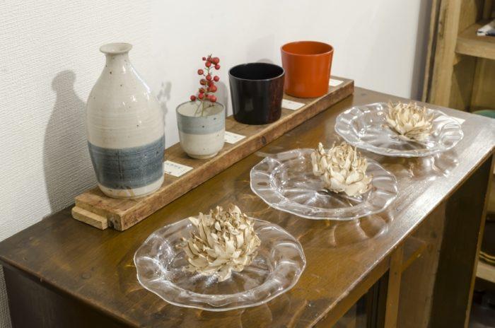 鈴木努さんのモールリムプレートはガラスでありながら、温かみのあるフォルムが特徴。