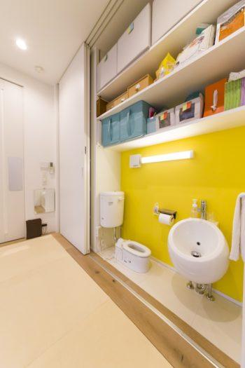 保育施設を開くことを視野に入れ、子供用のトイレ等をすでに設置。