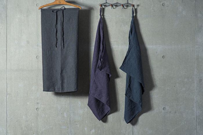 ソムリエエプロン マノン (アルドワーズ・レザン・デニムブルー) W1100 L750mm 各¥4,800 Lino e Lina (ジョイント)